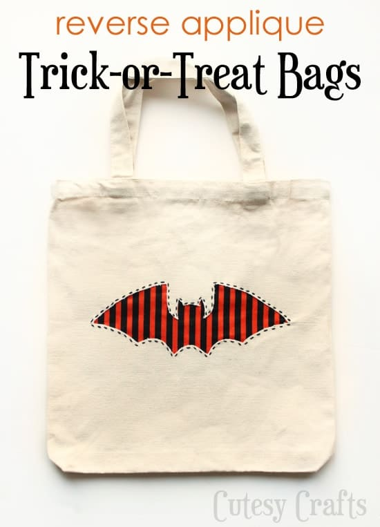 DIY halloween bag for trick or treating