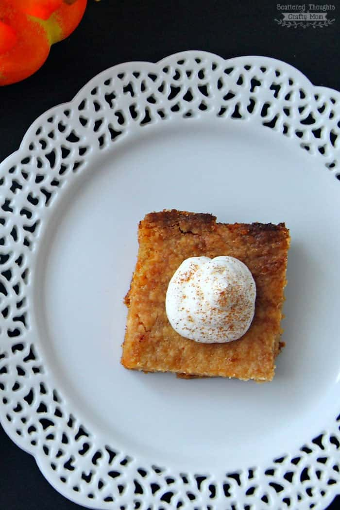 Easy Pumpkin Pie Cake Bars Recipe