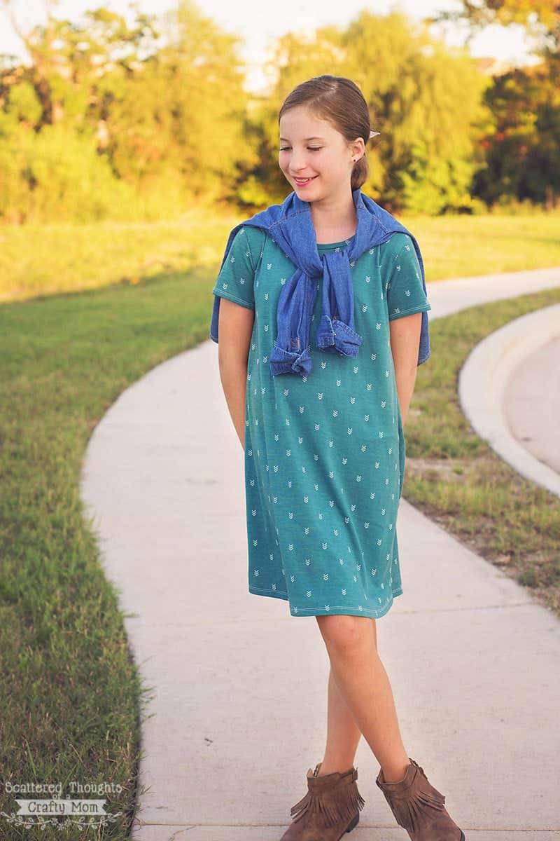 Perfect T-Shirt Dress Pattern and Tutorial (free pdf sewing pattern