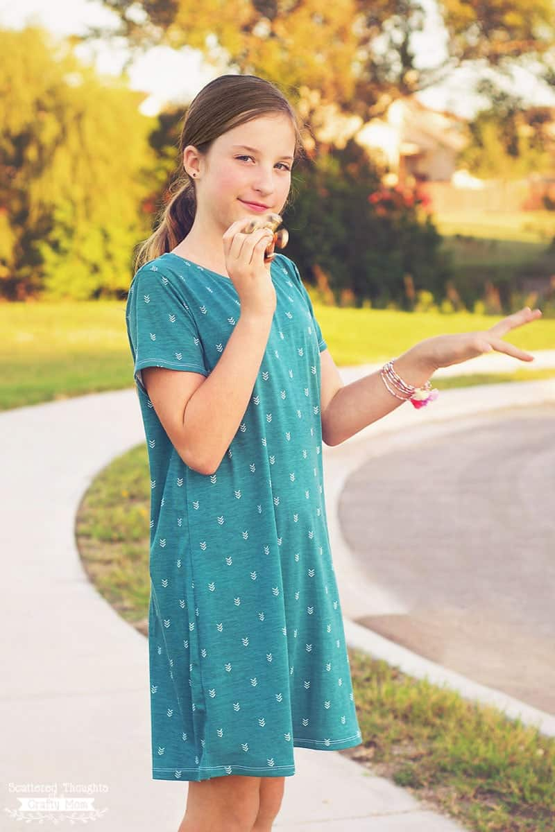 The Perfect T-shirt Dress Tutorial and free pdf sewing pattern