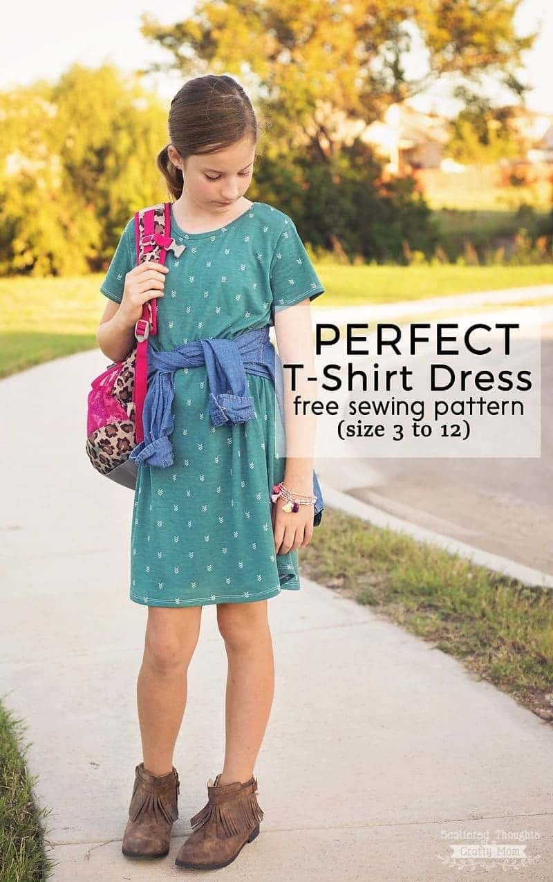 Perfect T-Shirt Dress Pattern and Tutorial (free pdf sewing
