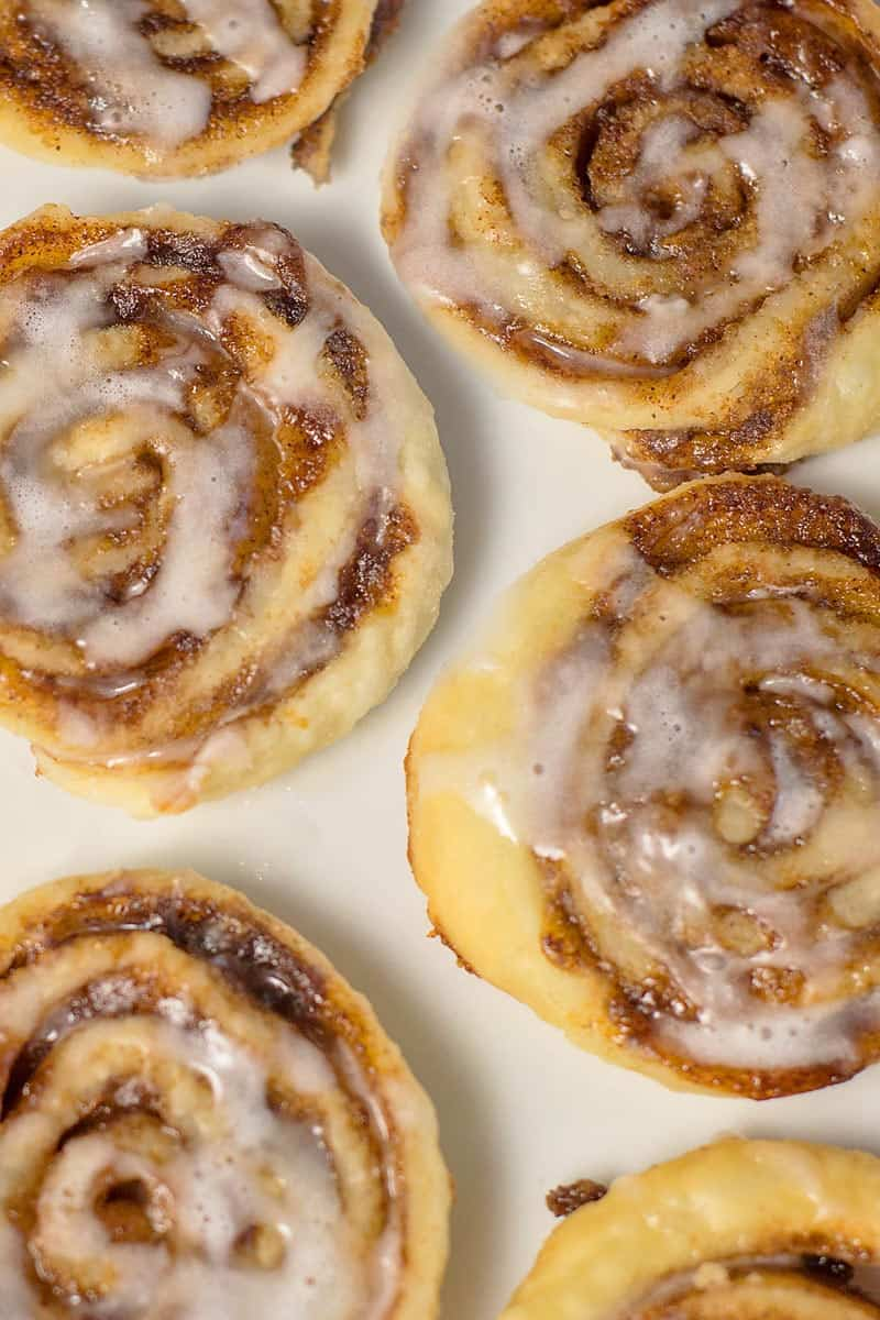 cinnamon sugar pinwheel cookies from a pie crust