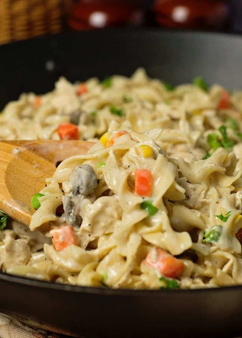 Creamy Chicken Noodle Skillet Recipe