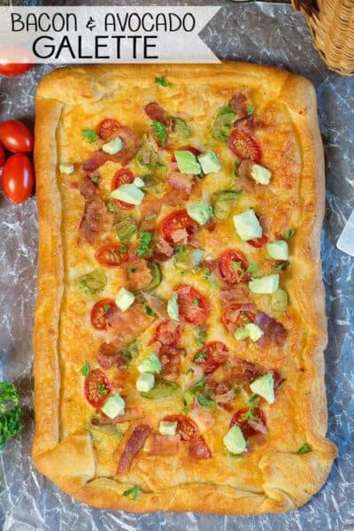 Easy Tomato, Bacon, Avocado Galette Recipe