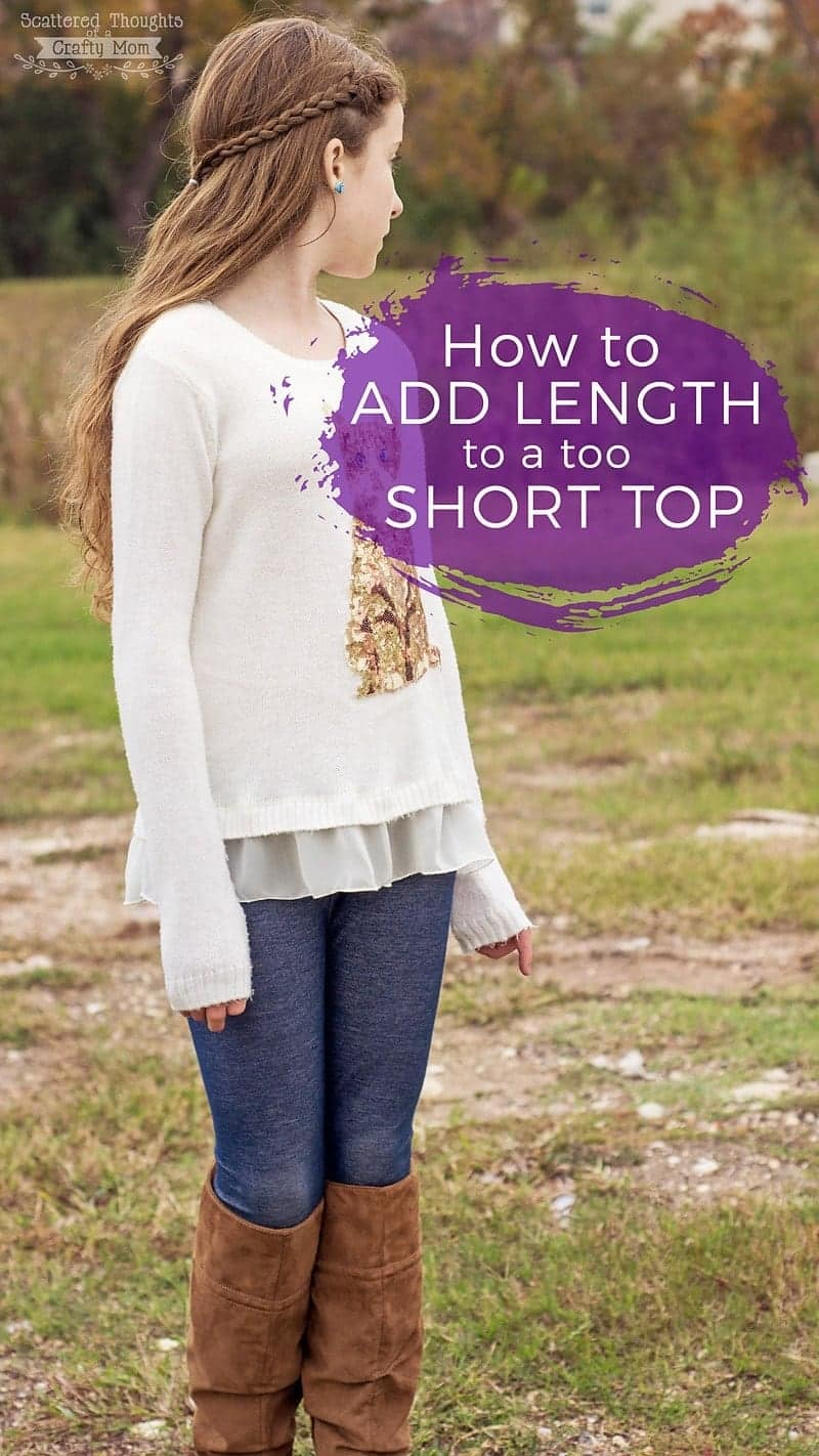 Learn how to add length to a too short top with this easy sewing tutorial!