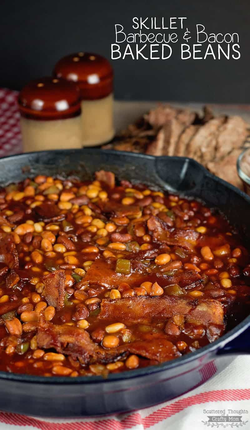 The Best Skillet Barbecue and Bacon Baked Beans Recipe Ever!