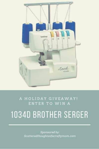Happy Holidays! (and that time I gave away a serger to one lucky winner)