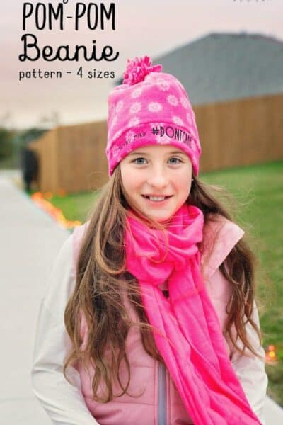 Easy Pom Pom Fleece Beanie Hat