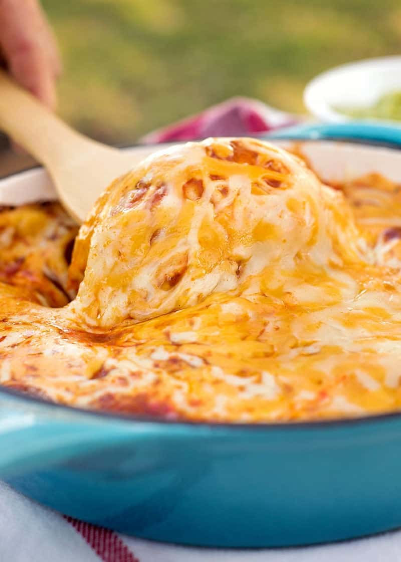 Cheesy Chicken Skillet Enchiladas
