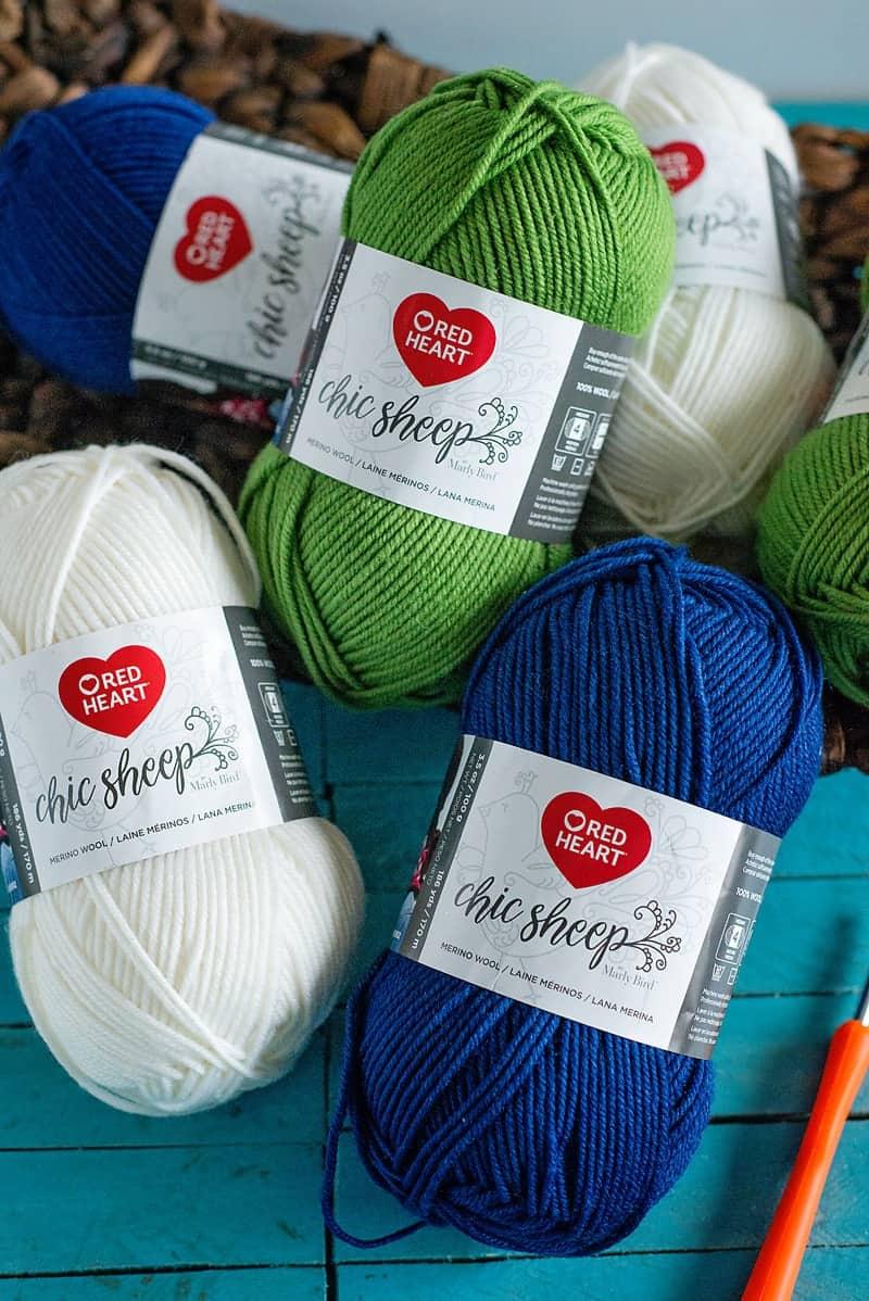 Red Heart Chic Sheep yarn