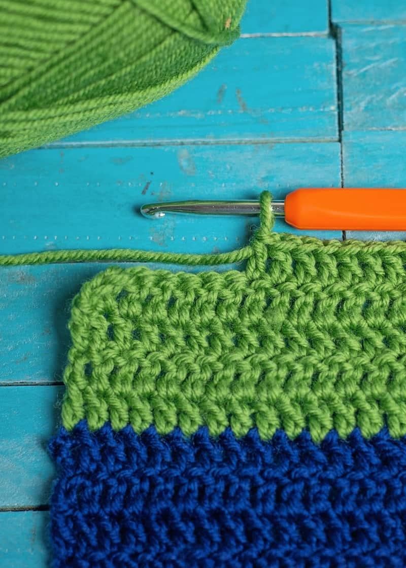 For the Boys: Easy Crochet Color Blocked Scarf & Beanie Set