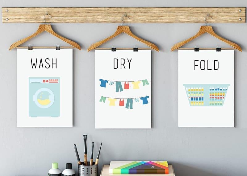 wash dry fold printable, free laundry printable