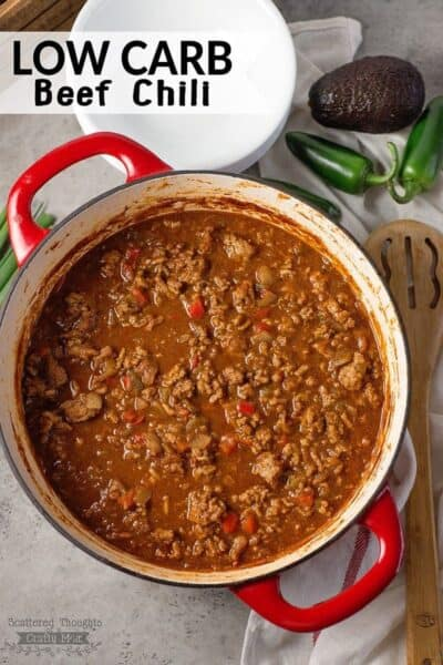 Game Day Food – Low Carb Chili Recipe