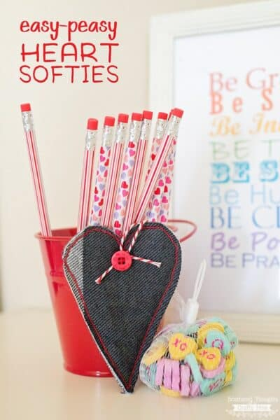 Easy Peasy Heart Softies
