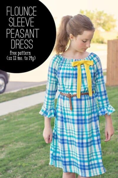 Flounce Sleeve Peasant Dress (How to add a flounce sleeve to any pattern)