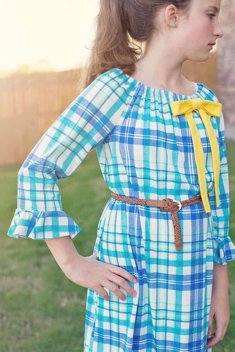 tween peasant dress pattern