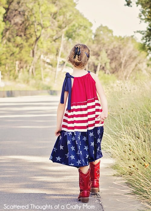 red white and blue sewing projects