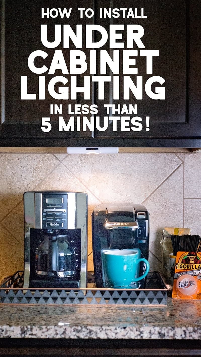 How to install wireless under cabinet lighting in 5 minutes