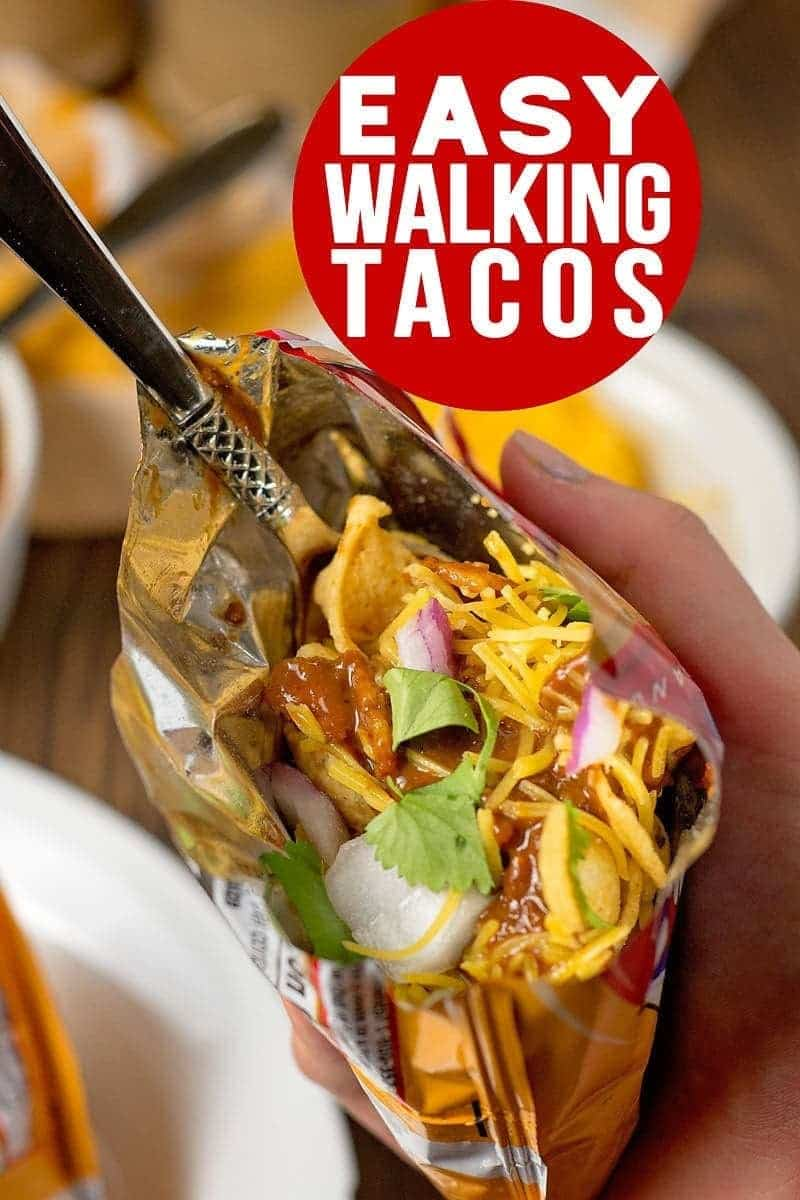 Walking tacos are perfect for summer parties