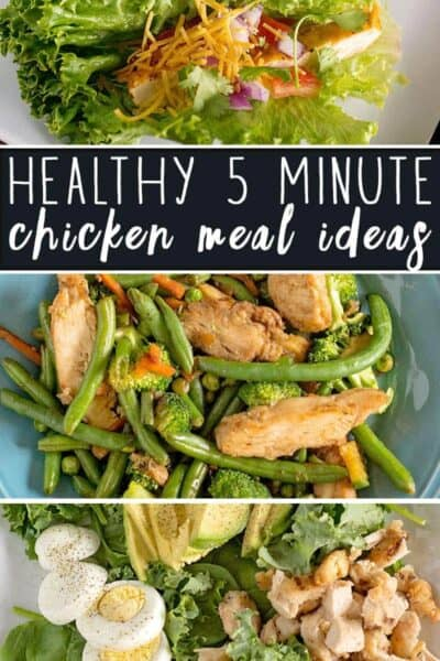 5 Minute Healthy Chicken Meal Ideas #CleanEating
