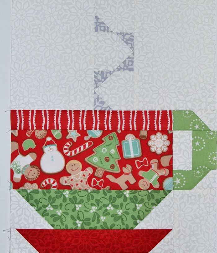 hot chocolate quilt block