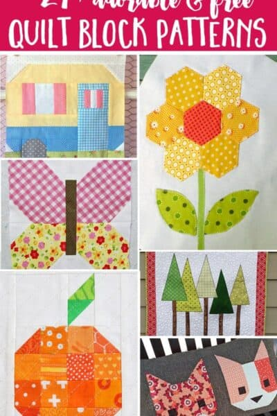 27+ Free Modern Quilt Block Patterns That Are So Adorable You Will be Excited to Get Quilting!