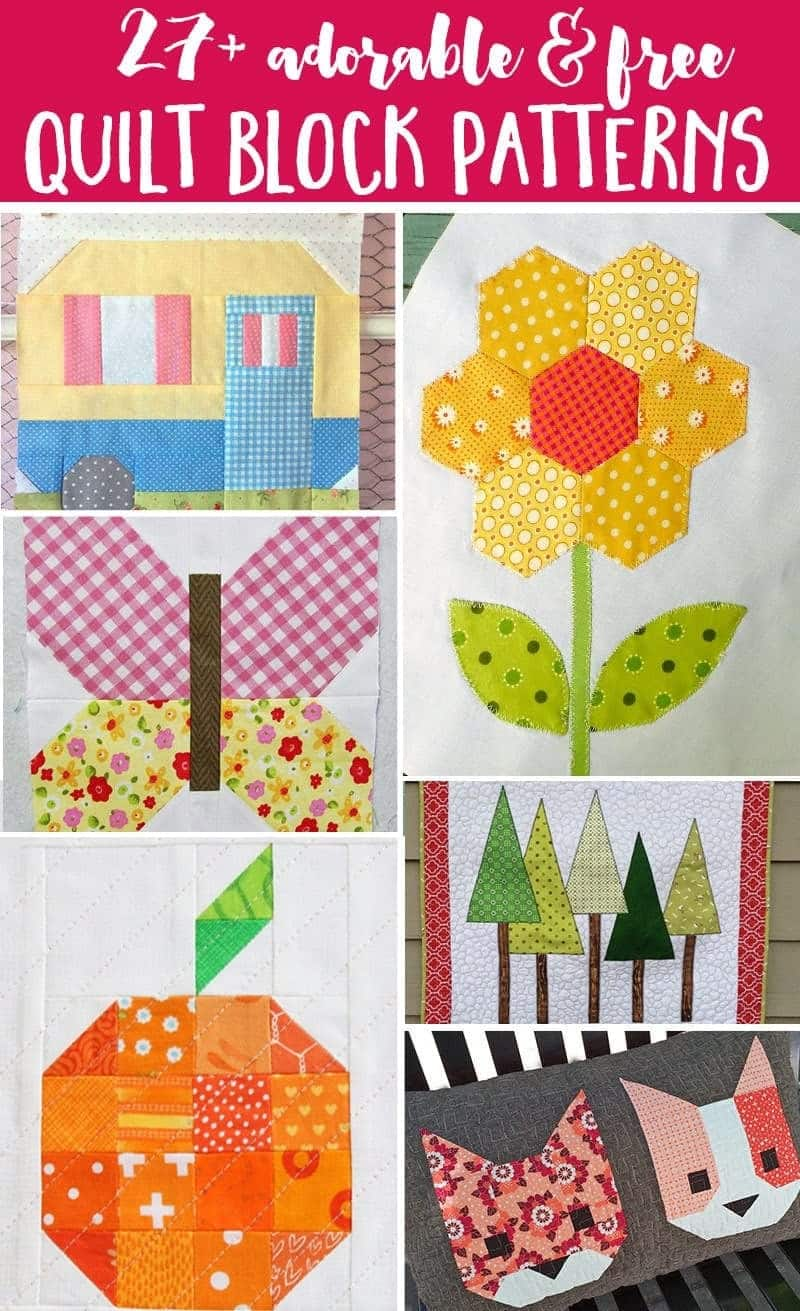 27+ Free Modern Quilt Block Patterns. These free Quilt Block Patterns are so adorable they will get you excited to get started on your next quilt project!