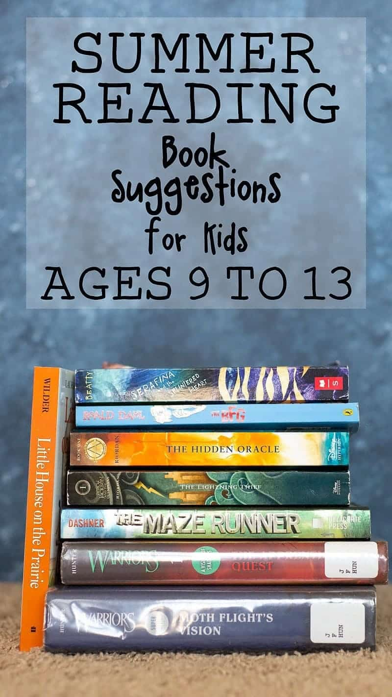 summer reading ideas for kids (middle grade reading list)