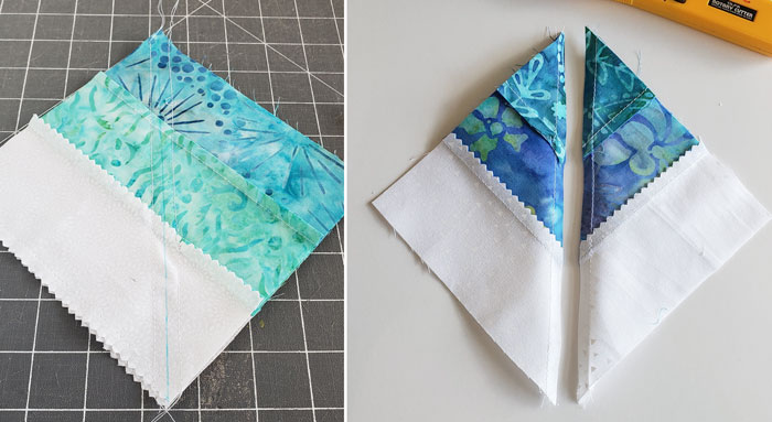 Square in square quilt block tutorial to start in 2020 7