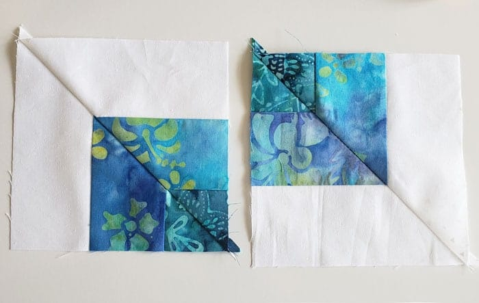 Square in square quilt block tutorial to start in 2020 8