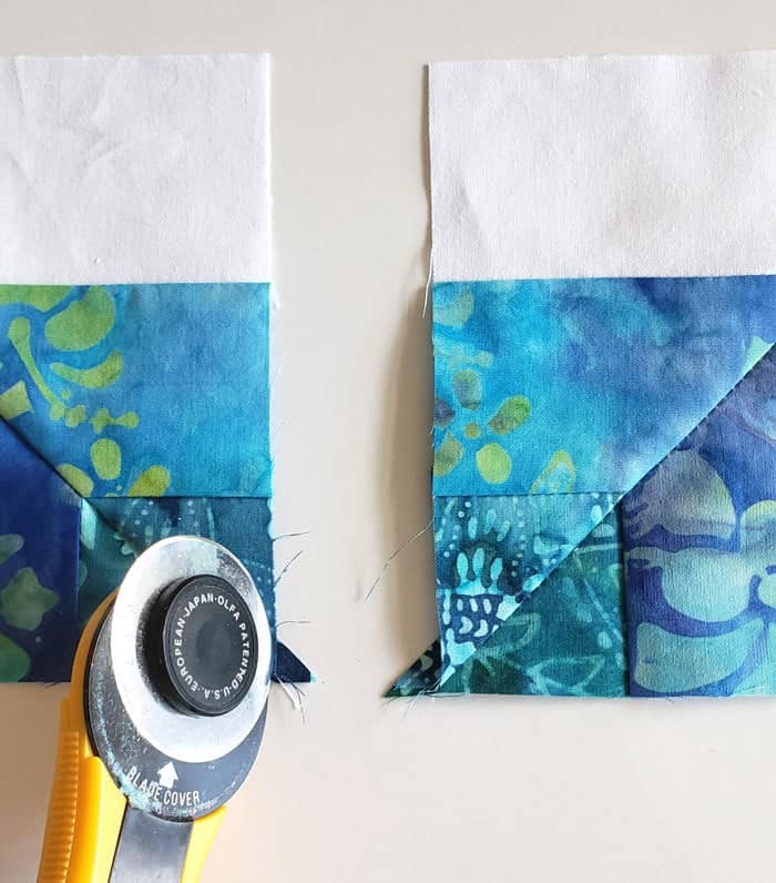 Square in square quilt block tutorial to start in 2020 9