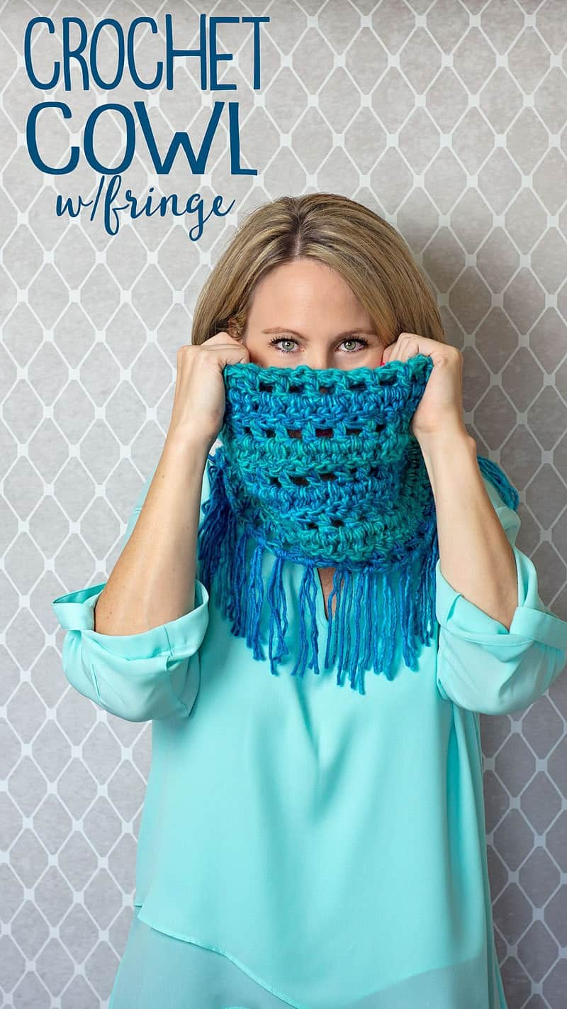 how to crochet a scarf with fringe