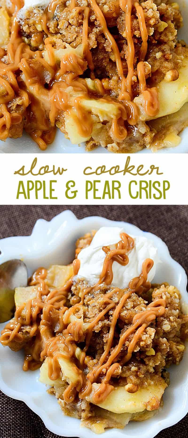 Slow Cooker Apple Pear Crisp