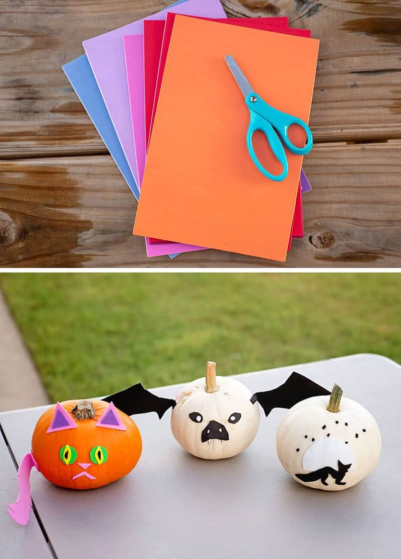 Decorate pumpkins with stickers: Halloween Party craft ideas for the kids to do at your Halloween Party, plus tips on how to save on all your craft and party supplies.