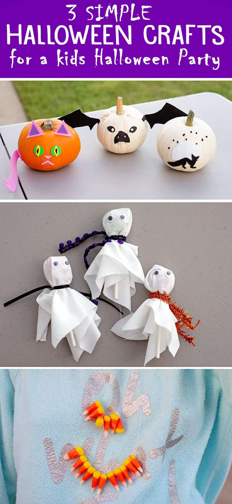 Simple Halloween Party craft ideas for the kids to do at your Halloween Party, plus tips on how to save on all your craft and party supplies.