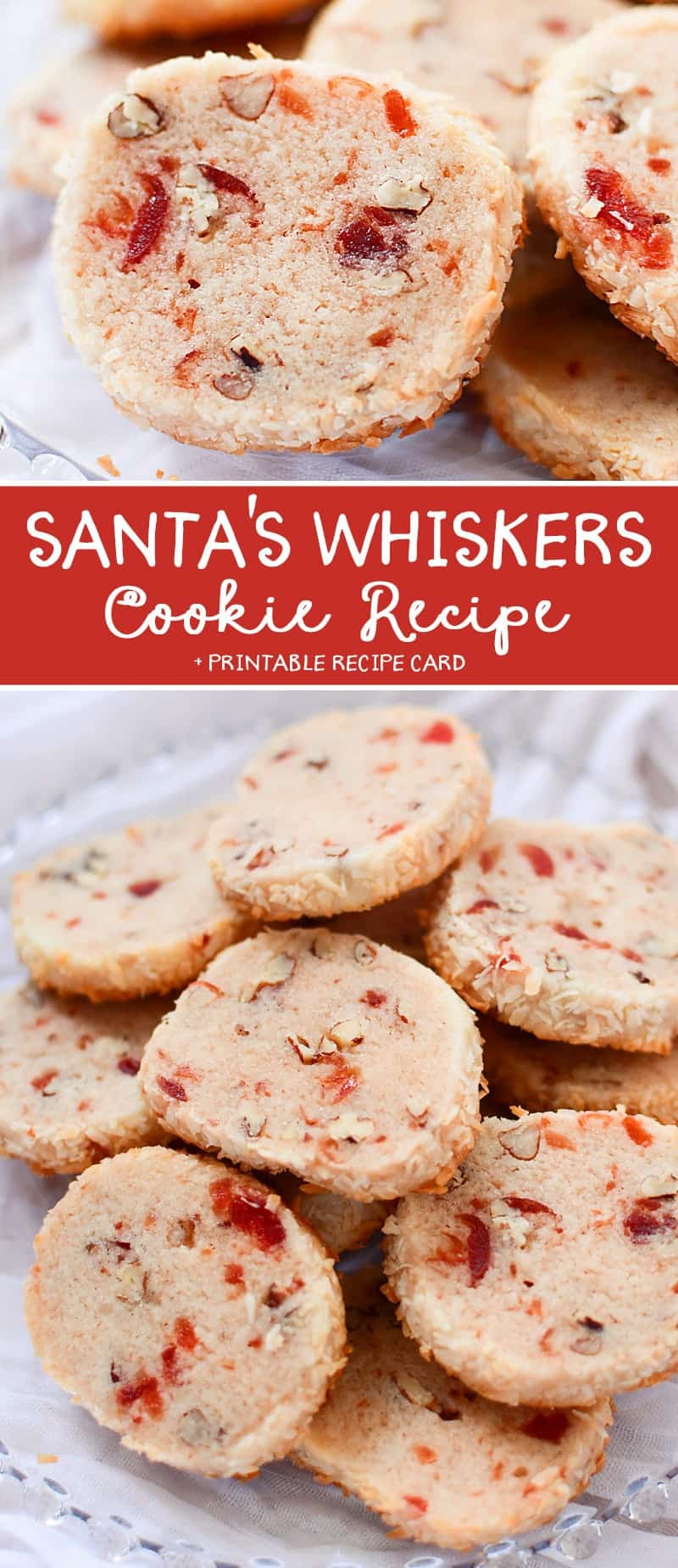This Santa's Whiskers Cookie Recipe are always a hit and are the perfect cookie for Holiday Cookie Exchanges!