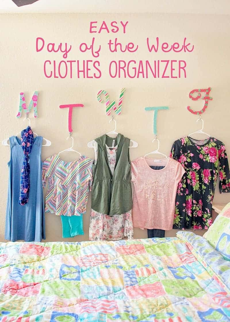 Daily clothes organizer tutorial