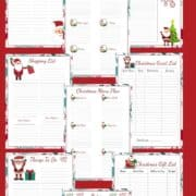 Free Holiday Christmas Planner