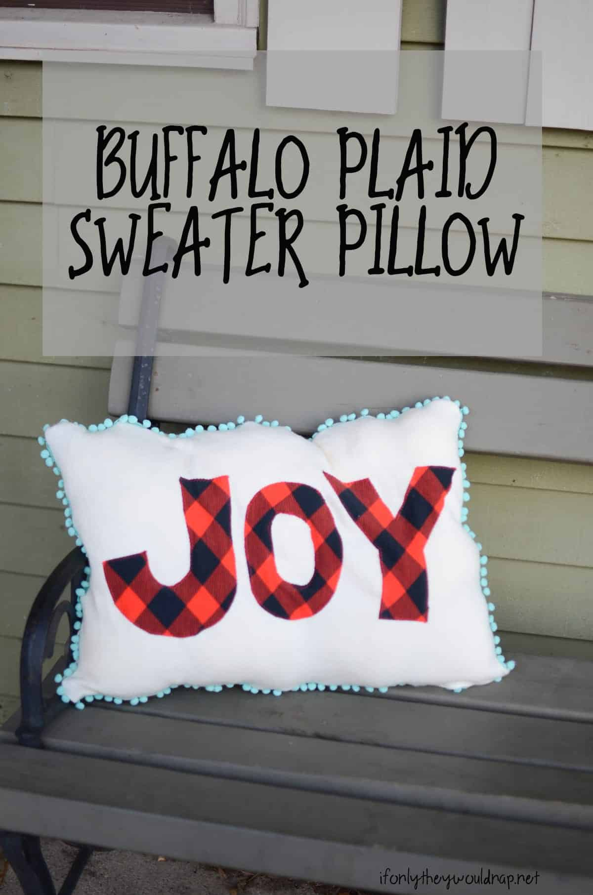 things to sew for christmas - easy pillows