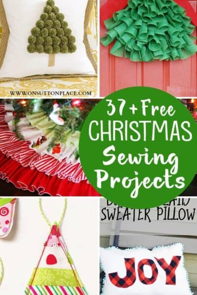 37+ Free Christmas Sewing Projects (stockings, ornaments, tree skirts & more)