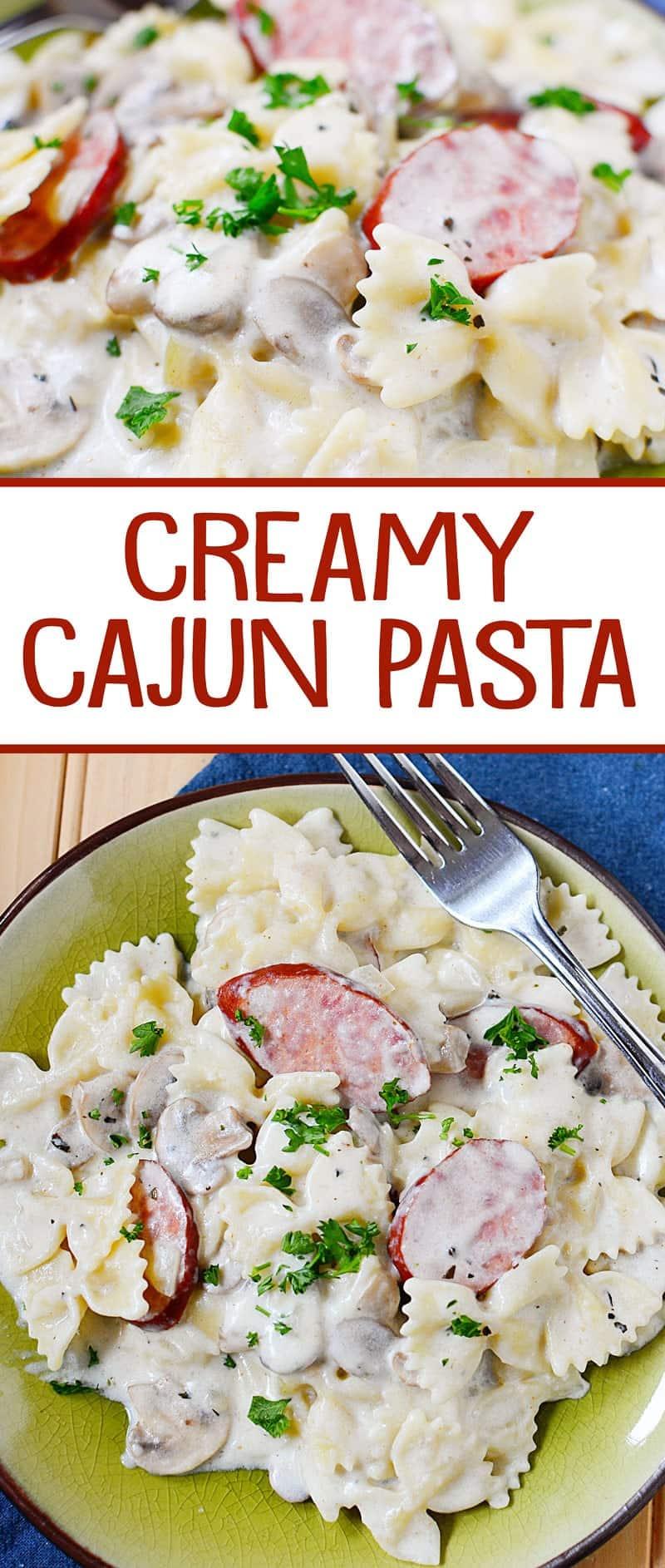 Creamy Cajun Sausage Pasta Recipe