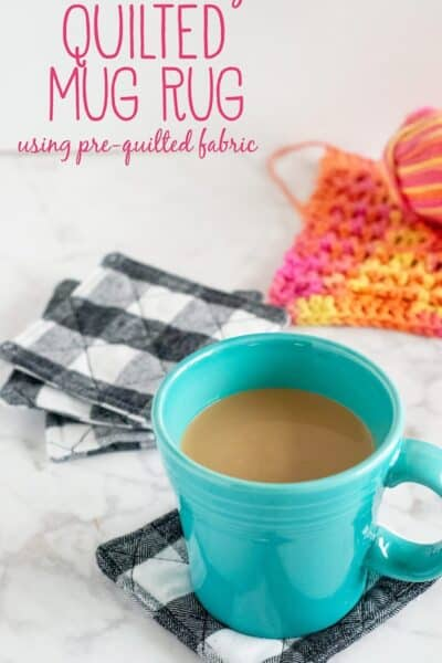 How to Make Quilted Mug Rugs (using pre-quilted fabric)