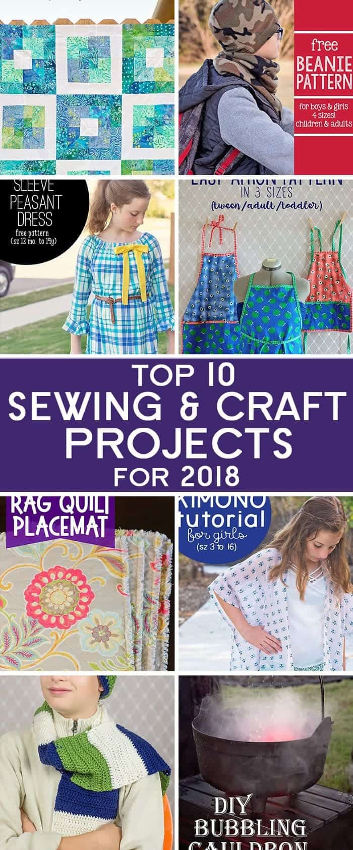 Top 10 Sewing and Craft Projects of 2018 from Scattered Thoughts of a Crafty Mom