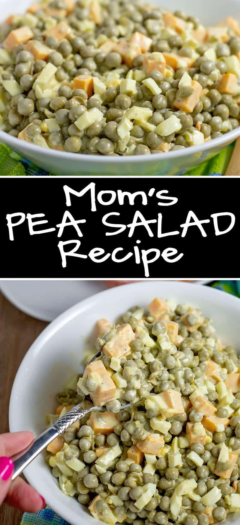Easy Pea Salad Recipe, Just like Mom used to make it