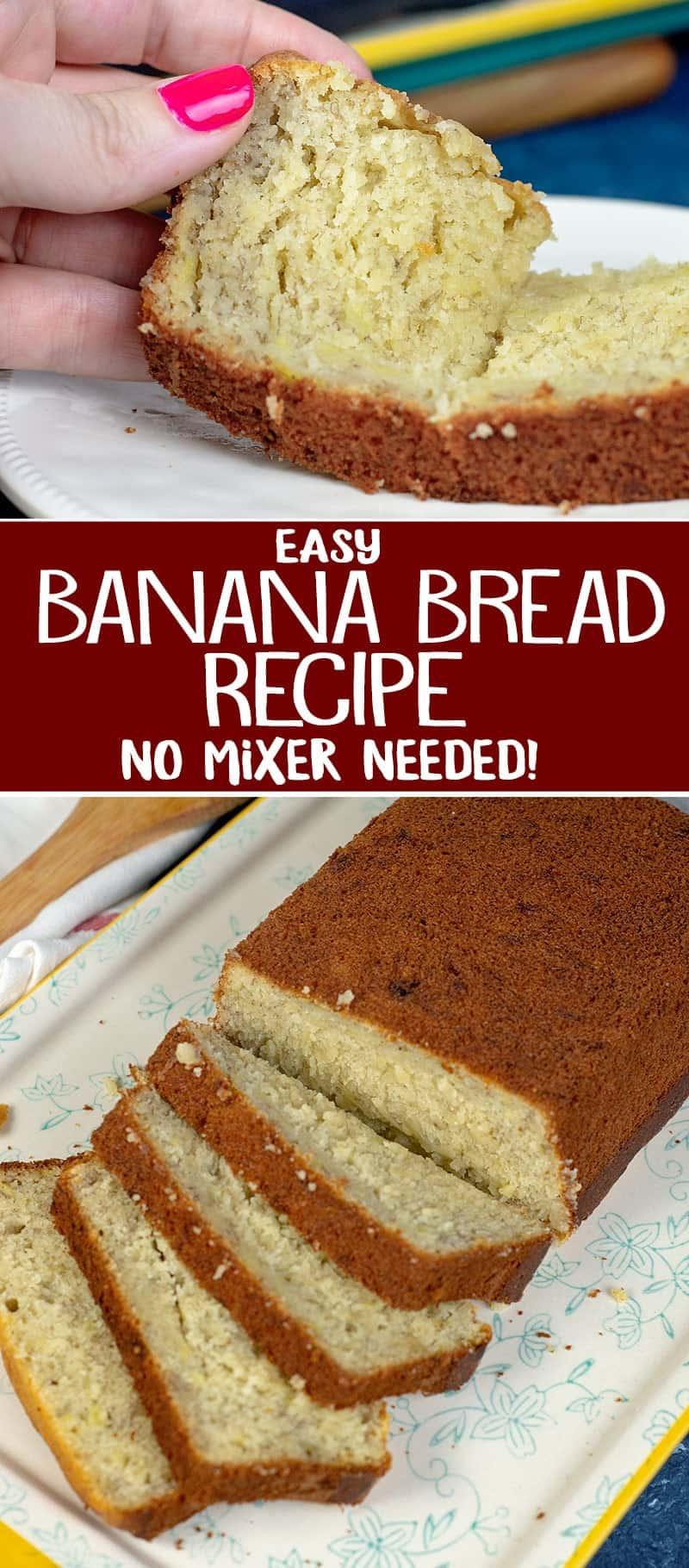 no mixer banana bread recipe