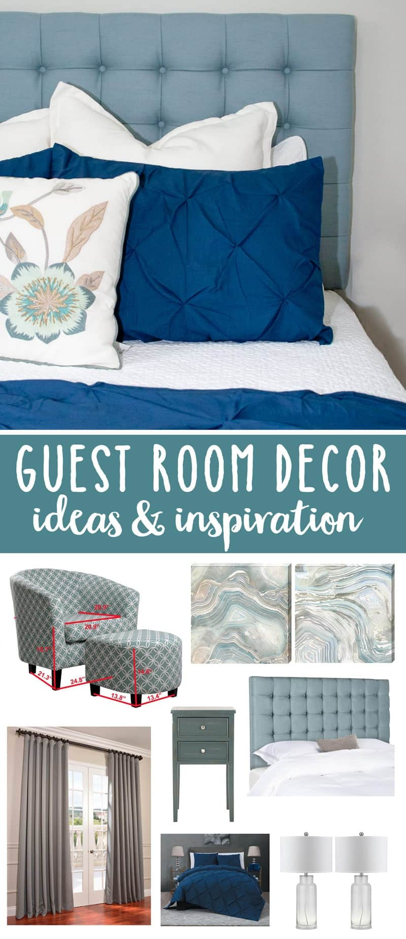 Blue and Teal Guest Room Decor (Ideas and Inspiration)