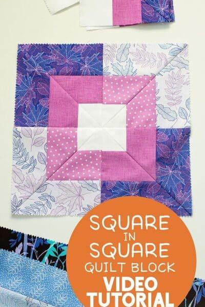 Seaside Squares Quilt Block Video Tutorial