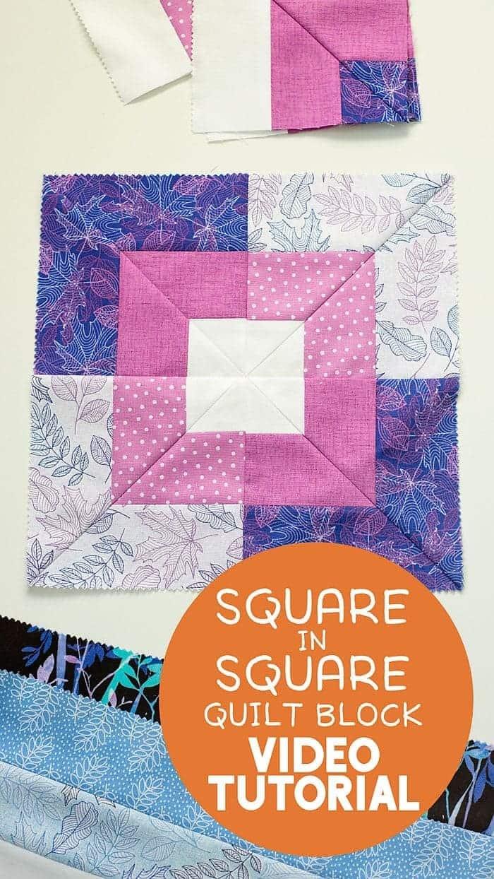 Square quilt block video tutorial