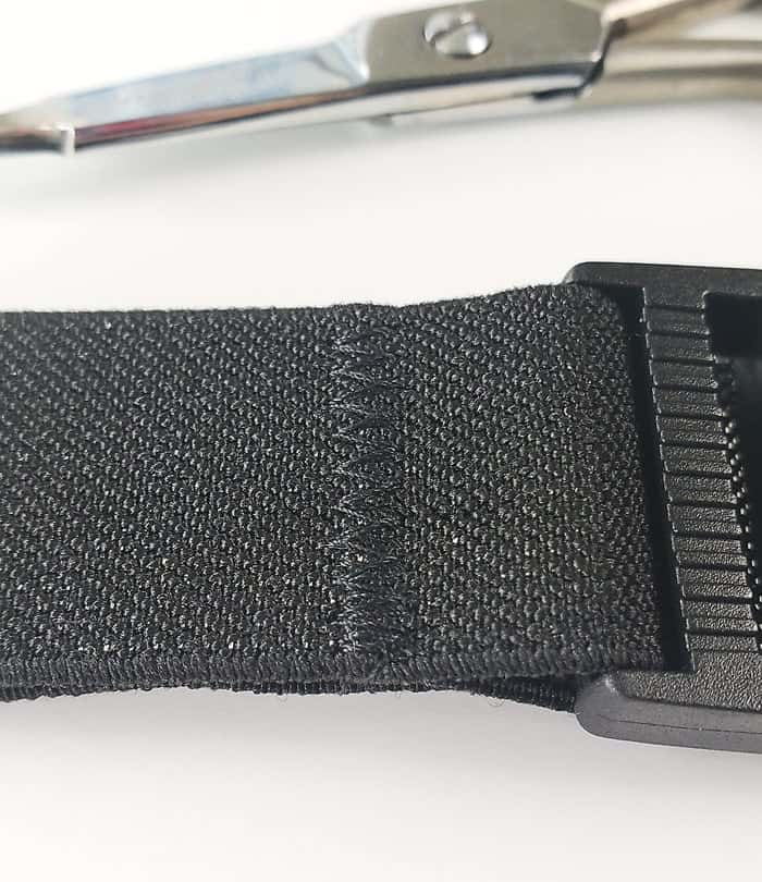 how to make a black stretch belt