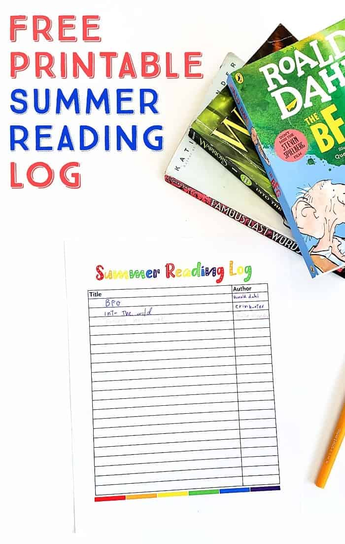 photograph regarding Free Printable Reading Logs called No cost Printable Summertime Reading through Log for Young children - Scattered